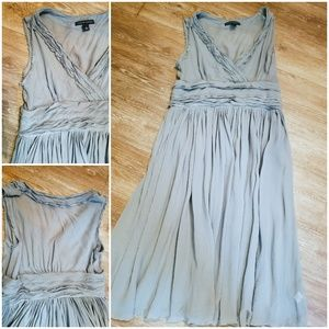 Banana republic seafoam silk dress sz 8